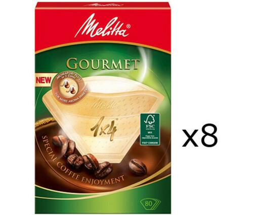 Melitta Kaffefilter 1×4 8 pack