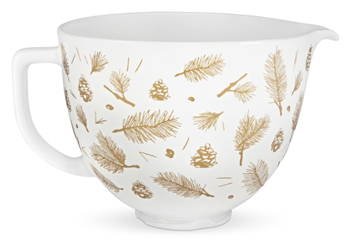 KitchenAid Artisan Ceramic Bowl - white/golden