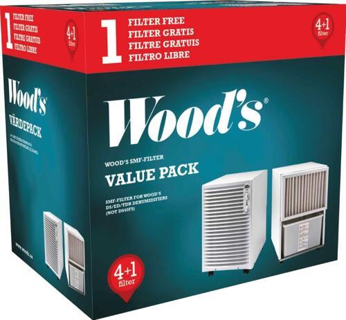 Woods Utbytesfilter till Wood ´s 5-p