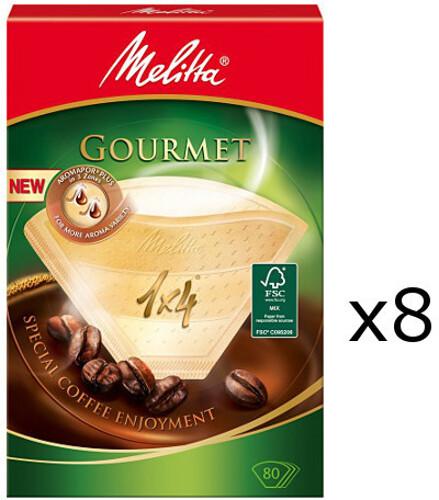 Melitta Kaffefilter 1x4 8 pack