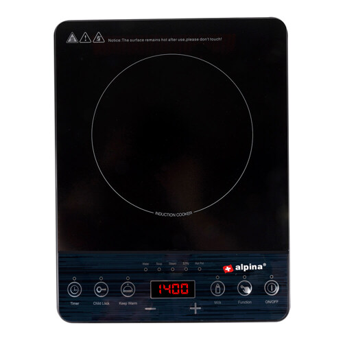 Alpina Cooker Plate Induction Single Grill- & Häll