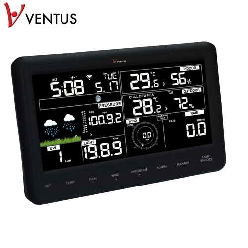 Ventus W830w Wi-fi Väderstationer - Svart