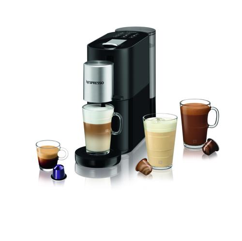 Nespresso Atelier, 1,0 L., Bla Black Kapselmaskin - Svart/silver