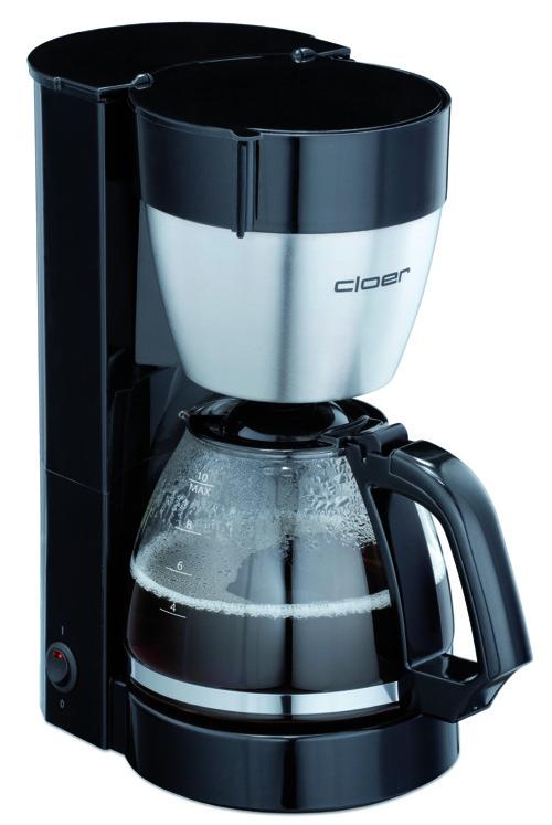 Cloer 5019 10 Cups, Black 800 Watt Kaffemaskine