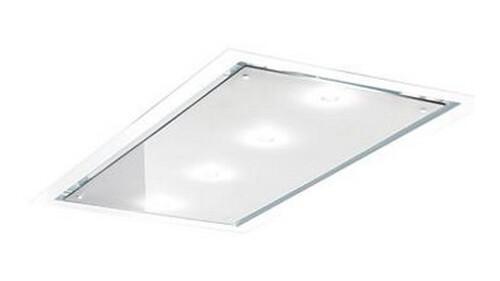 Distante 120 W Sm Hvid/hvid Glas Takintegrerade Köksfläkt - Vit/glas
