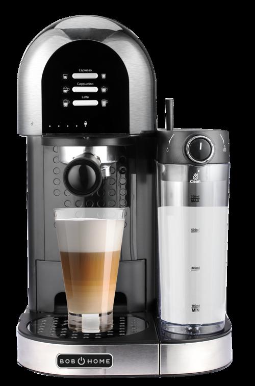 Bob Home Espresso Coffee Espressomaskin - Stål