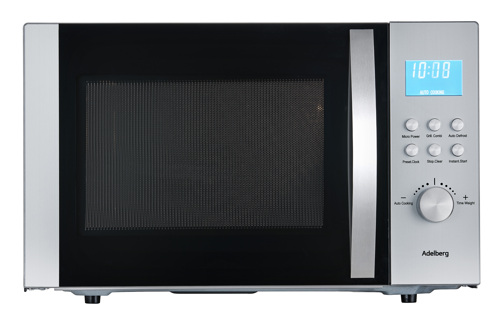 Adelberg 11330074, 30l M. Grill-/kombi Funktion Mikrovågsugn - Rostfritt Stål