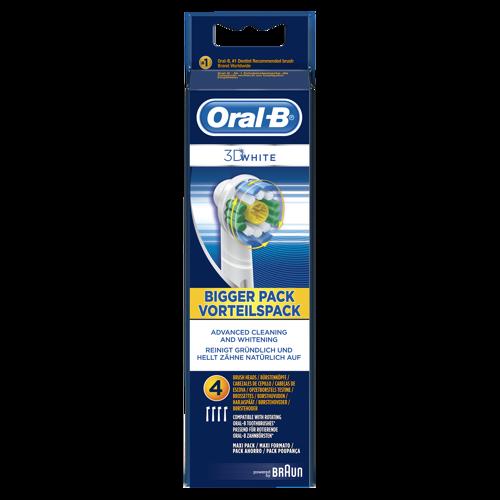 Oral-b 3d White 4 Pak Tillbehör Till Tandvård