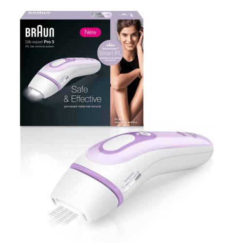 Braun Silk-expert Pro 3 Pl3012 Hårborttagning Med Ljus - Lila