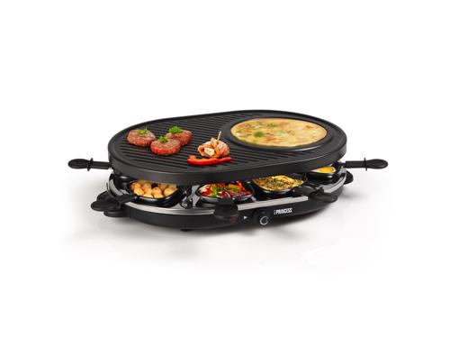 Princess 162700 Til 8 Personer Raclette & Fondue - Svart