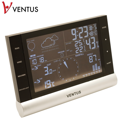 Ventus W820 Bluetooth Väderstationer - Svart