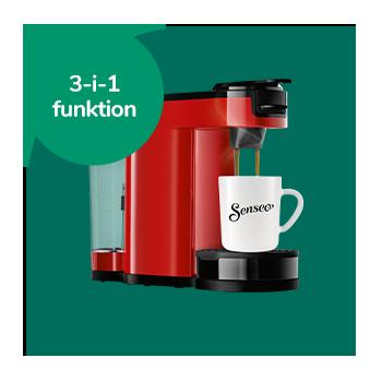 Senseo kapselmaskine med en kop kaffe